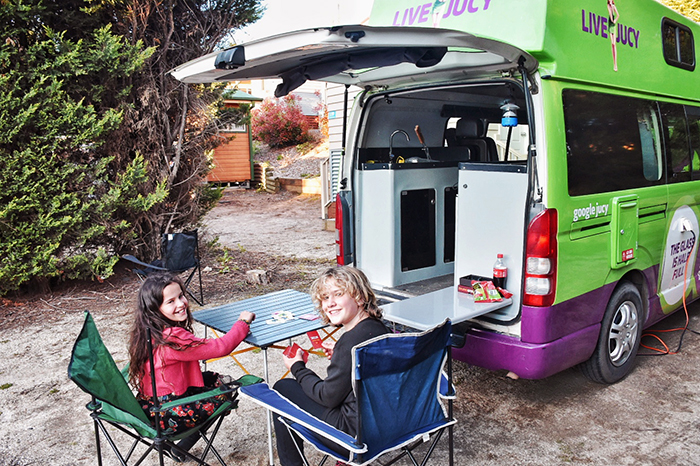 Camping in our JUCY Condo at the awesome NRMA Bathurst Panorama Holiday Park