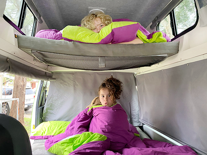 JUCY Condo camper sleeps four!