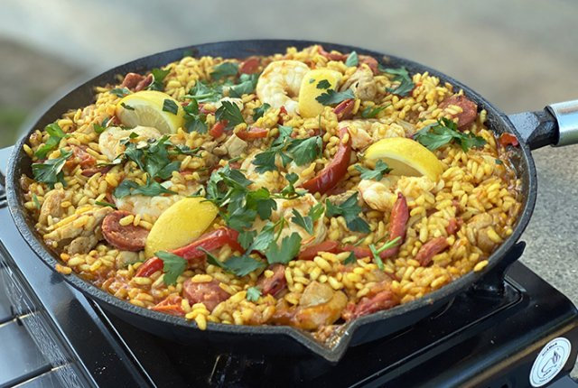 Simple Campfire Paella