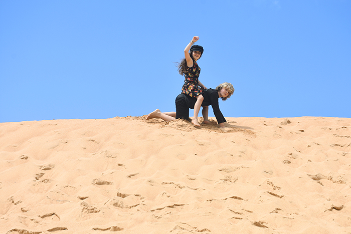 Playing in the Narrabeen Bsach dunes