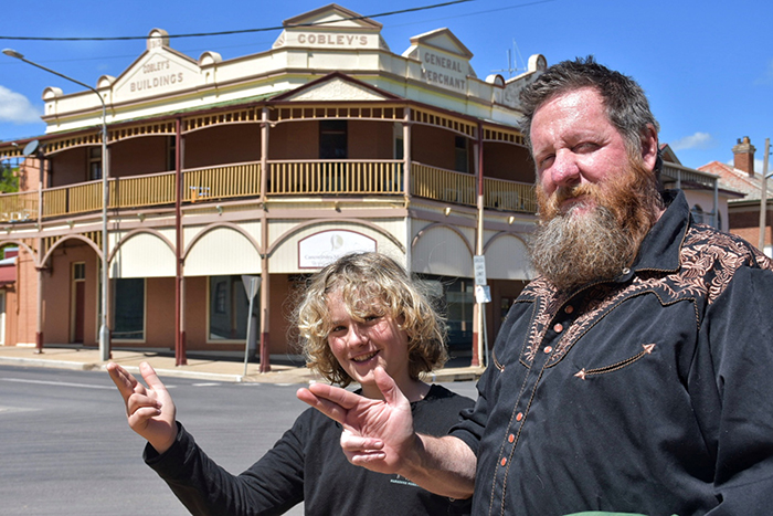 Raff & Craig Lawler of Blind Freddy's Bushranger Tours Canowindra © Aleney de Winter/BoyEatsWorld