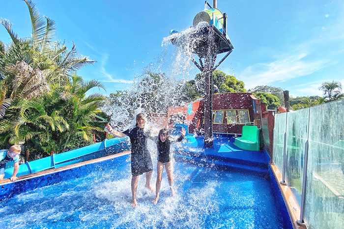 Best caravan parks in South West Rocks. Family fun Shipwreck Island at NRMA South West Rocks Holiday park
