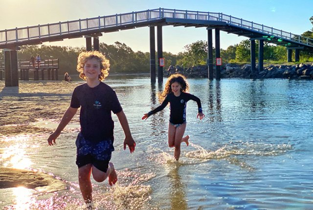 Things to do in South West Rocks with kids: sunset play at Back Creek,