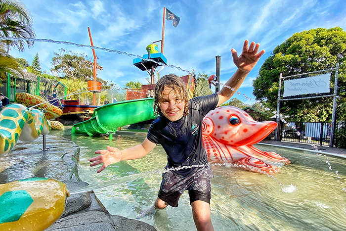 Family fun Shipwreck Island at NRMA South West Rocks Holiday Resort
