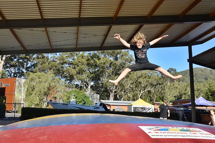 jumping pillow at NRMA South West Rocks Holiday Resort