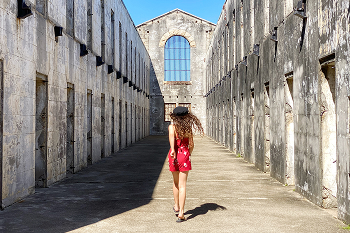 Little girl exploring Trial Bay Gaol at South West Rocks
