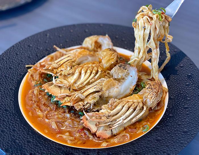 slipper lobster in shellfish gravy at Paste Mittagong