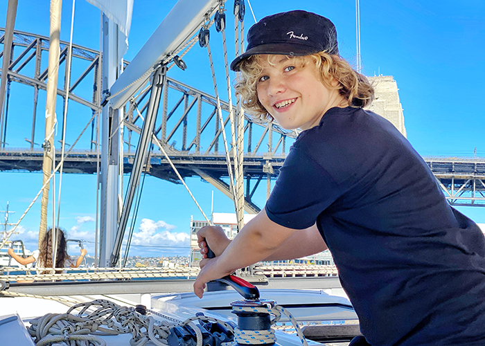Learning the ropes on an overnight Sydney sailing for families with Sydney by Sail