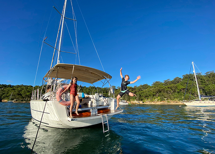 overnight Sydney sailing for families: Sydney by Sail B&B by sea family adventure
