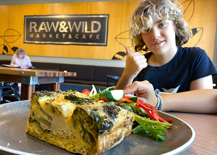 best Bowral Restaurants and cafes: Frittata at Raw & Wild