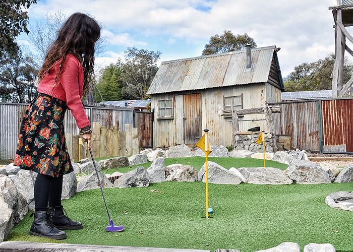 MIni Golf at NRMA Bathurst Panorama Holiday Park