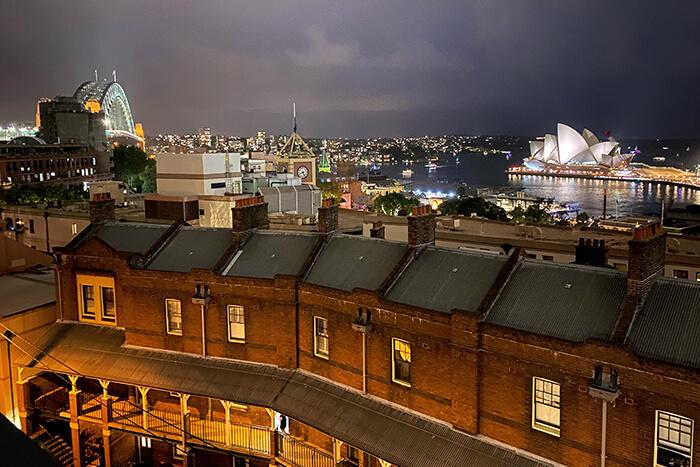 Sunset from Sydney Harbour YHA