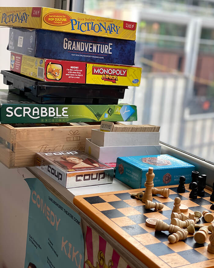 Board games at Sydney Harbour YHA - The Rocks