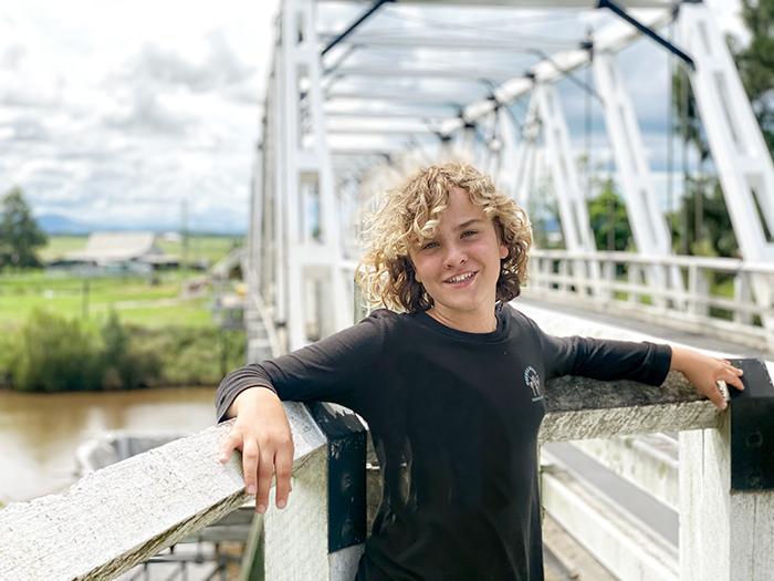 Teen at Morpeth Bridge