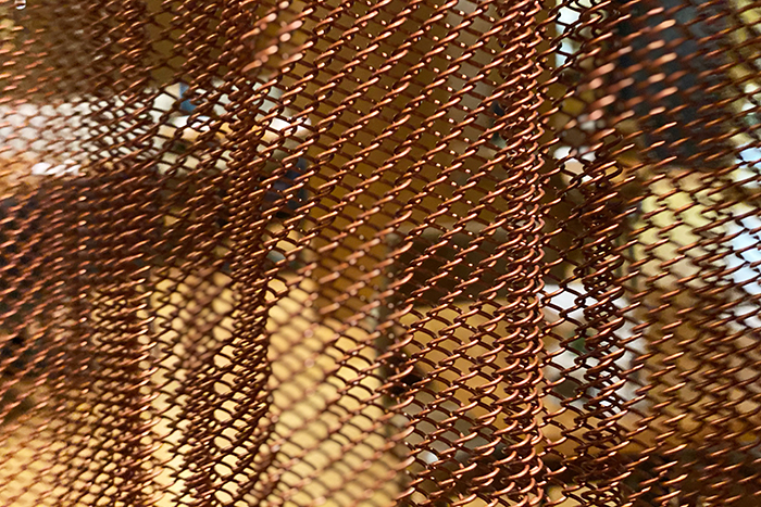Chain mail curtains at Four Seasons Sydney