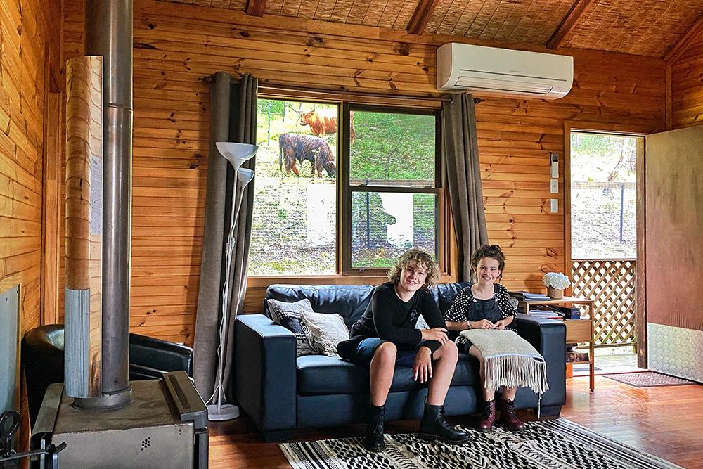 Getting comfy at Bluegum Cottage , Hunter River Retreat