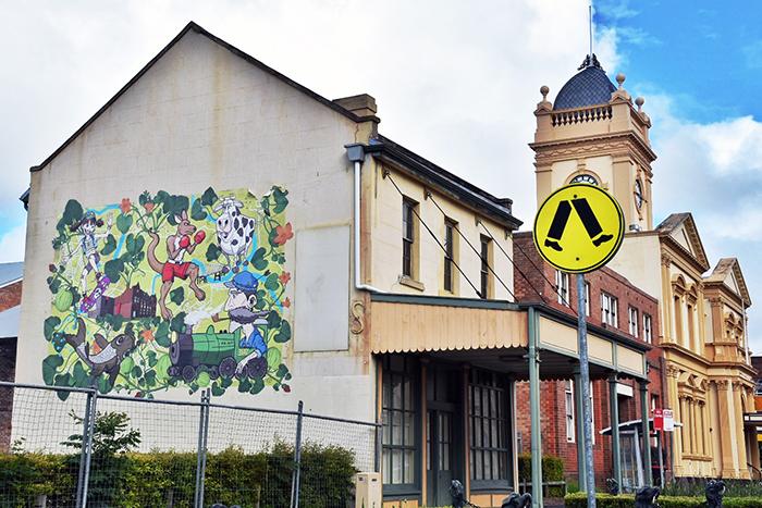 Street art on Maitland Heritage Walk