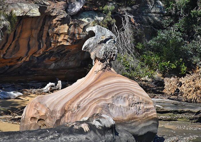 Rock formations Hawkesbury River