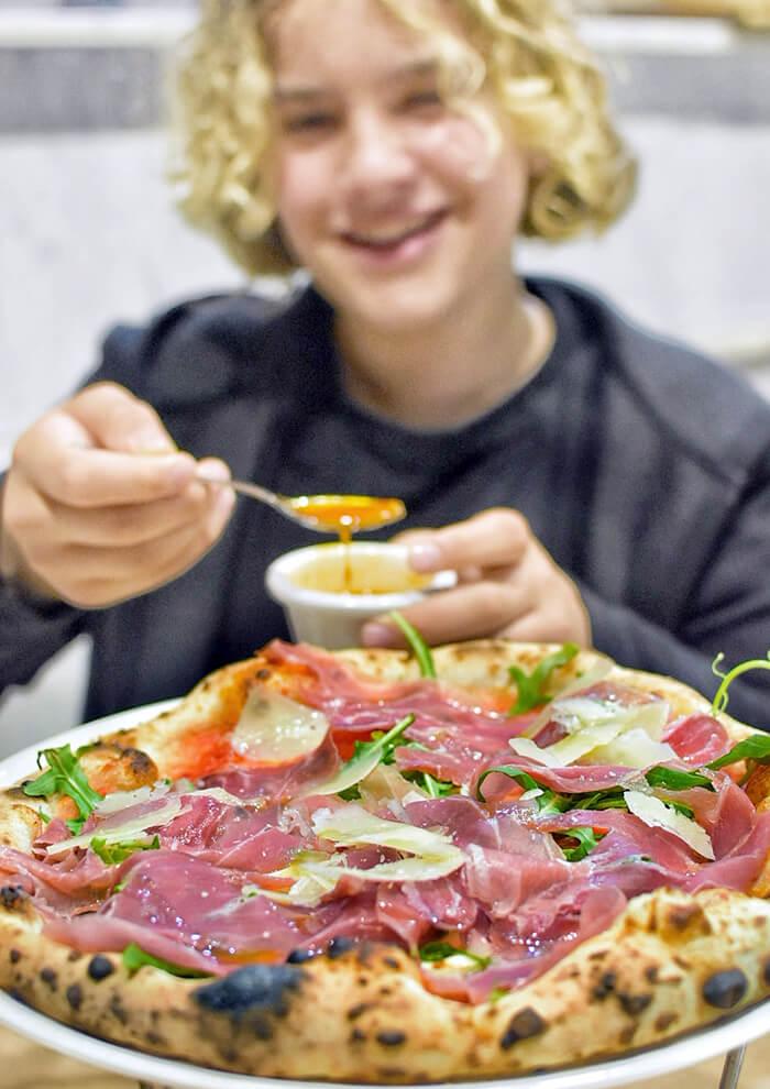 Filetto pizza at Lucio Pizzeria