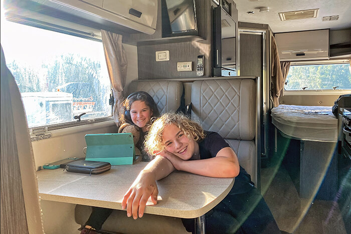 RElaxing on the road in a motorhome