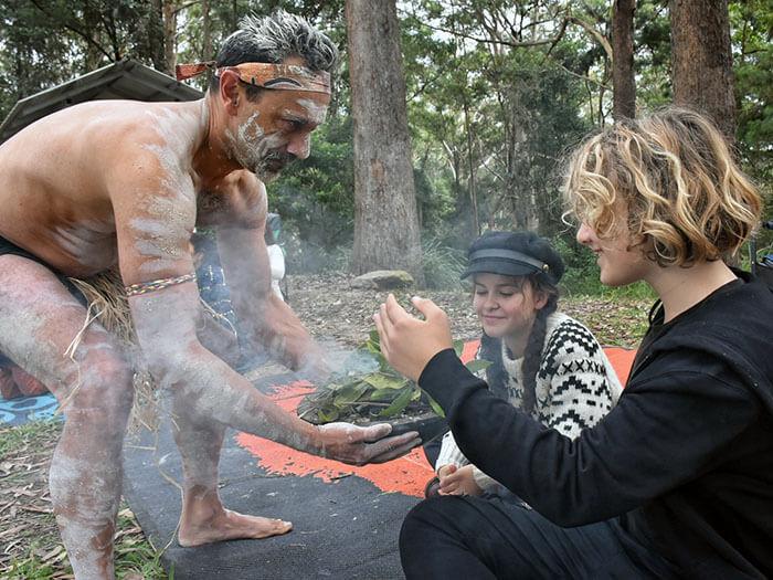 smoking ceremony at Giingan Gumbaynggirr Cultural Experience