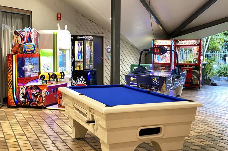 Games room at NRMA Darlington Beach Resort