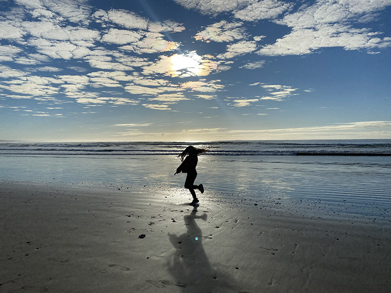 Sunrise strolls on Arrawarra Beach