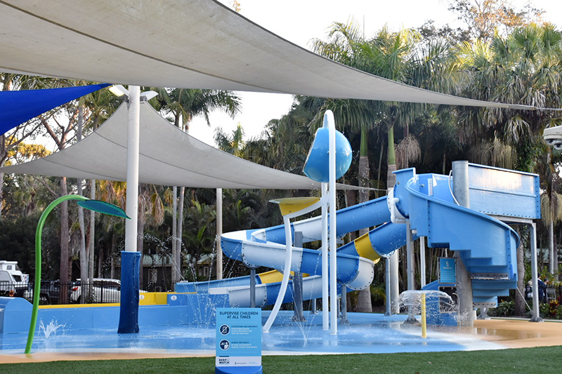 Water park at NRMA Darlington Beach Holiday Resort