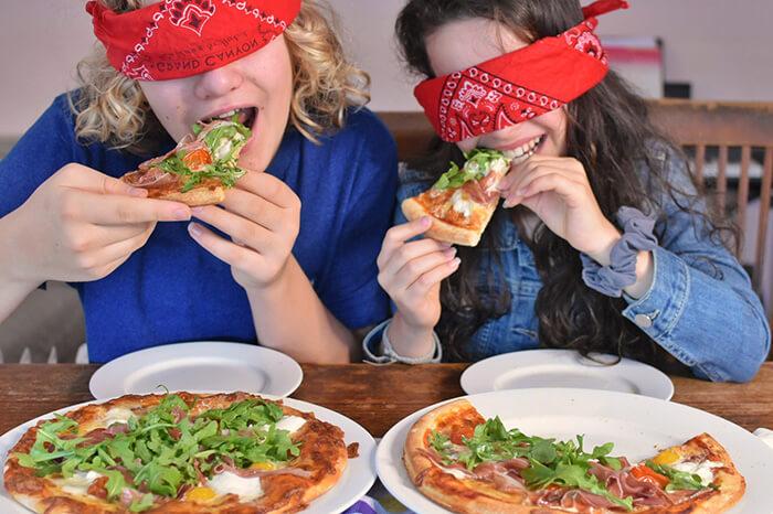 Kids blind testing RDM PIzza Australia