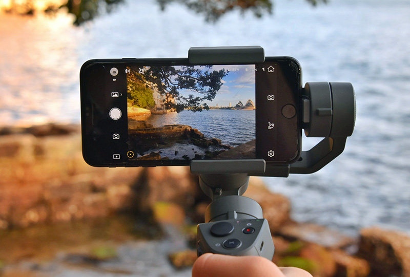 DJI's Osmo Mobile to attain smooth cinematic quality videos.